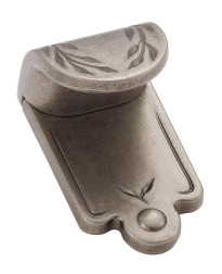 Nature's Splendor 1-7/8 in (48 mm) Length Weathered Nickel Cabinet Finger Pull