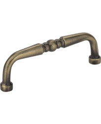 "Madison 3"" Centers Turned Pull in Brushed Antique Brass"